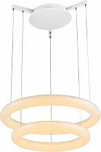 Plafonnier LED anneaux design lampe de salon