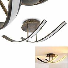 Plafonnier LED Aranu en métal aspect rouille et
