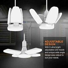 Plafonnier LED avec ventilateur déformable,