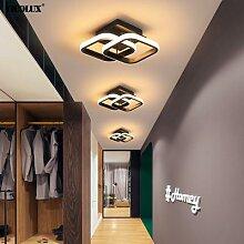 Plafonnier LED blanc/noir au design moderne,