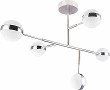 Plafonnier LED boule anneaux chromés lampe spot