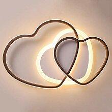 Plafonnier LED Chambre Luminaire En Forme De Coeur