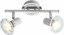 Plafonnier LED cristal spots lumière chrome