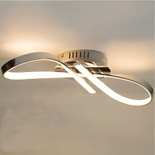 Plafonnier LED dimmable design ruban infini