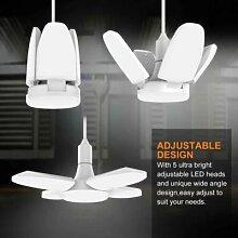Plafonnier LED E27 de 300W à pales de ventilateur
