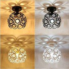 Plafonnier Led en boule de cristal au design