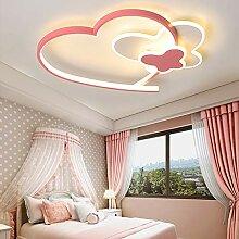 Plafonnier LED Forme Coeur-Papillon Lampe Plafond