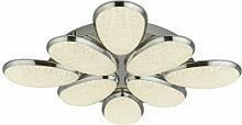 Plafonnier led lori 8 ampoules, abat-jour effet