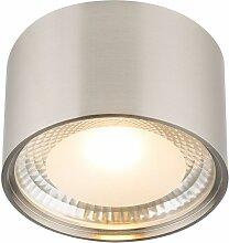 Plafonnier LED luminaire argent salon salle à