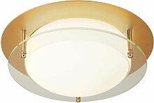 Plafonnier LED luminaire doré en aluminium