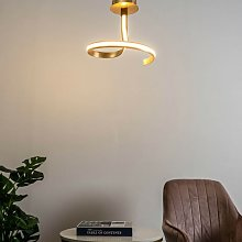 Plafonnier LED mini-ruban feuille d'or -