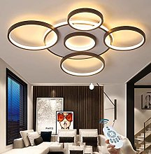Plafonnier LED Moderne Grande Lampe Salon Dimmable