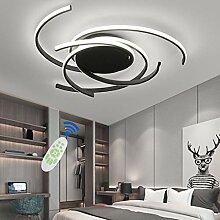 Plafonnier LED Moderne Lampe Plafond Noirs