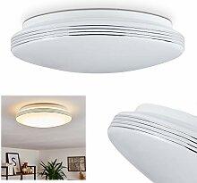 Plafonnier LED Niebla, luminaire moderne blanc