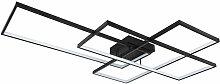 Plafonnier LED noir mat dimmable lumière salon