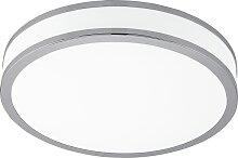 Plafonnier LED Sistéro Blanc et chrome - Eglo