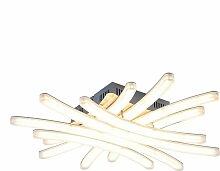 Plafonnier LED SMD 40 watts éclairage chromé