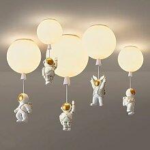 Plafonnier LED suspendu en forme d'astronaute,