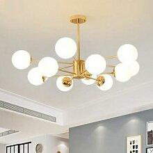 Plafonnier LED suspendu en forme de boule de