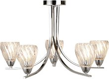 Plafonnier luminaire chrome couloir bureau cuisine
