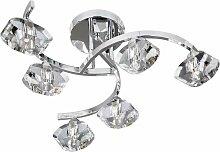 Plafonnier luminaire chrome couloir cuisine bureau