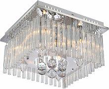 Plafonnier luminaire de plafond pendeloques