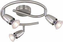 Plafonnier Luminaire Métal Chrome Nickel Matt