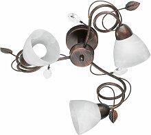 Plafonnier luminaire plafond métal abat-jours