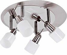 Plafonnier luminaire plafond métal verre
