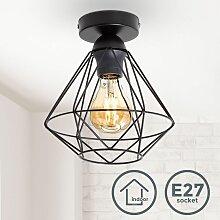 Plafonnier métal design rétro éclairage style