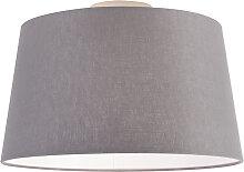 Plafonnier moderne avec abat-jour gris foncé 35