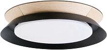 Plafonnier noir avec LED Tender Faro