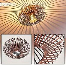 Plafonnier Ovari en métal cuivré, luminaire