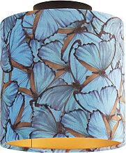 Plafonnier papillon avec abat-jour en velours
