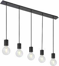 Plafonnier pendule lampe suspendue ALU-BLACK