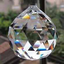 Plafonnier suspendu en cristal transparent,