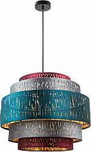Plafonnier suspendu multicolore pendentif design