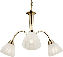 Plafonnier suspension bronze lustre salon lampe
