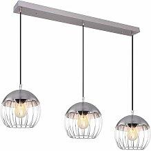 Plafonnier suspension suspension chrome lumière