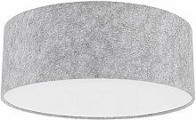 Plafonnier textile gris feutre lampe salle a