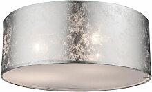 Plafonnier tissu abat-jour lampe brillant salon
