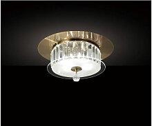 Plafonnier Tosca rond 4 Ampoules laiton