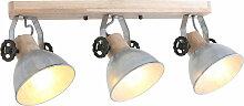 Plafonnier vintage salon poutres spot lampe spot