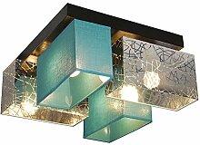 Plafonnier Wero Design Bilbao-004 Argent/turquoise