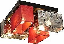 Plafonnier Wero Design Bilbao-004 Argenté/rouge