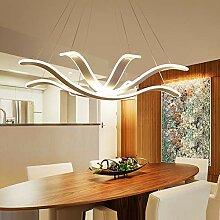 Plafonnier XFse LED Huit Griffe Lustre Blanc Jaune