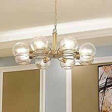 Plafonnier XFse LED Transparent Ball Lustre Doré