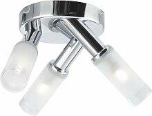 Plafonniers LED luminaire chrome couloir bureau