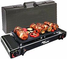 Plancha grill Gaz / réchaud 2 feux Piezo 5000W