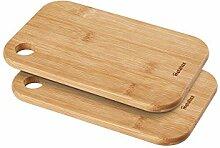 Planche à découper en bambou, bois, 2 unités